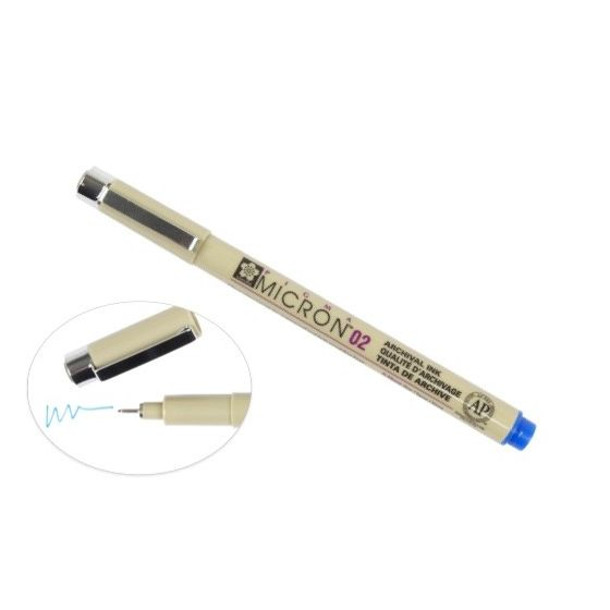 [Clearance] Micron 02 PEN 0.30MM - BLUE
