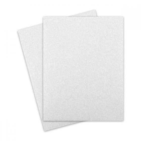 Glitter Paper - Glitter WHITE (1-Sided) 8.5X11 Letter Size - 10 PK [DFS]