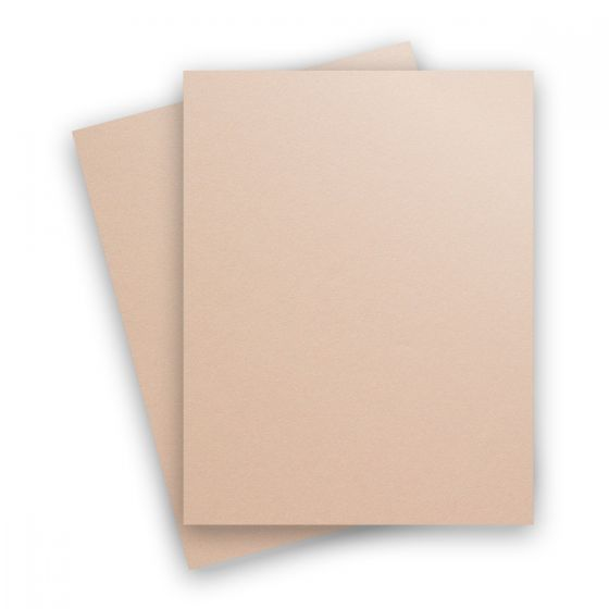 Curious Metallic - NUDE 8.5X11 Letter Size Card Stock Paper 111lb Cover - 25 PK [DFS]