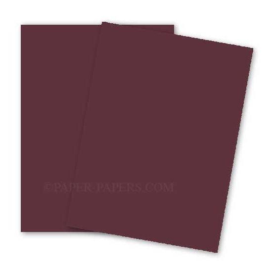 BASIS COLORS - 8.5 x 14 CARDSTOCK PAPER - Burgundy - 80LB COVER - 100 PK [DFS-48]