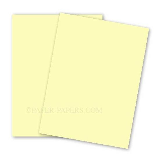 BASIS COLORS - 26 x 40 CARDSTOCK PAPER - Light Yellow - 80LB COVER - 100 PK