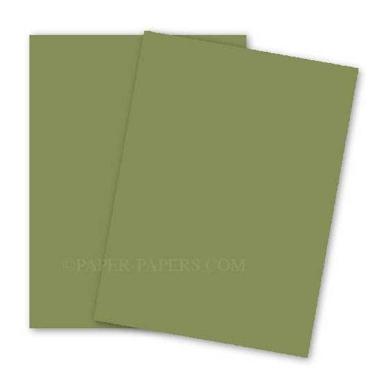 BASIS COLORS - 12 x 18 PAPER - Olive - 28/70 TEXT - 200 PK [DFS-48]