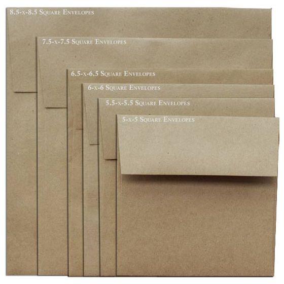 Brown Bag Envelopes - KRAFT - 8.5 in Square Envelopes - 800 PK [DFS-48]