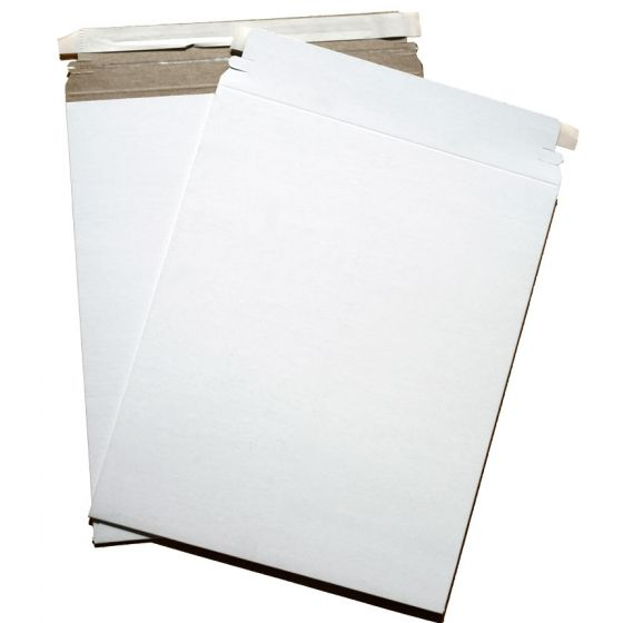 Cardboard Envelopes - WHITE Paperboard Mailers (12.75-x-15) - 100 PK [DFS-48]
