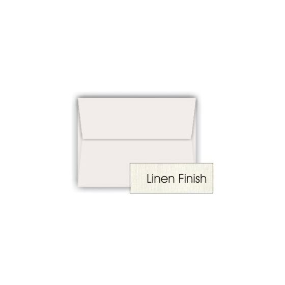 Classic LINEN Natural White (80T/Linen) - A8 Envelopes (5.5-x-8.125) - 250 PK [DFS-48]