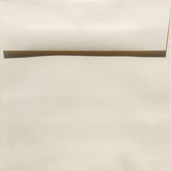 Classic Linen Natural White - 7.5 in (7.5X7.5) Square Envelopes (80T/Linen) - 25 PK [DFS]