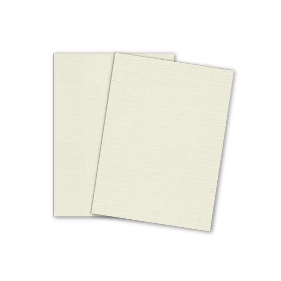 Mohawk VIA Linen - NATURAL - 8.5 x 11 Card Stock Paper - 100lb Cover - 25 PK [DFS]