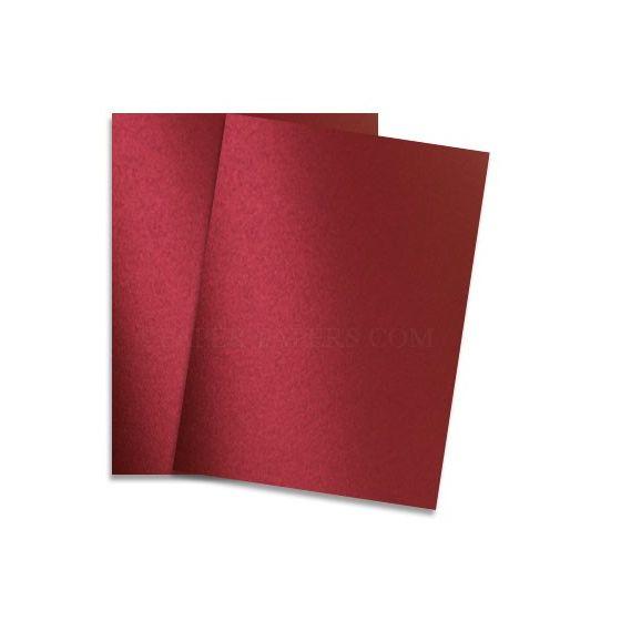 Shine RED SATIN - Shimmer Metallic Paper - 8.5 x 11 - 80lb Text (118gsm) - 200 PK [DFS-48]