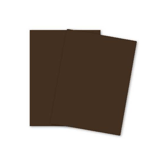 Plike (Plastic-Like) Paper - 8.5 x 11 - BROWN - 122LB COVER - 25 PK [DFS]