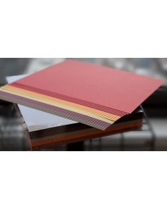 Warm Shades Shimmer Variety Card Stock Paper - 8.5-x-11-inches Assorted Card Stock (5 color / 10 sheets each) - 50 PK [DFS]