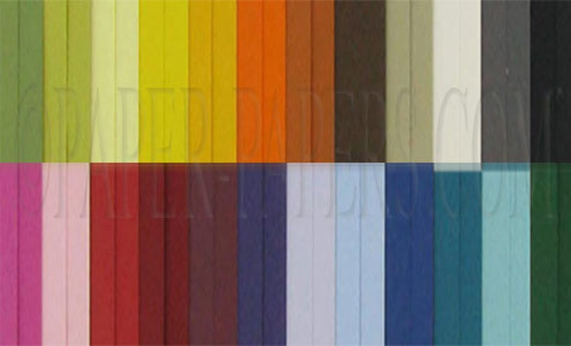 Rainbow of colored cardstock | paperpapers.com