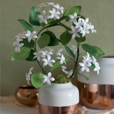Metallic Paper Jasmine Plant