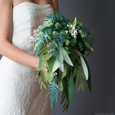 Green Paper Bouquet
