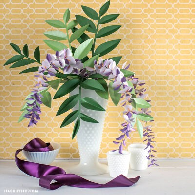 Wisteria Paper Flowers