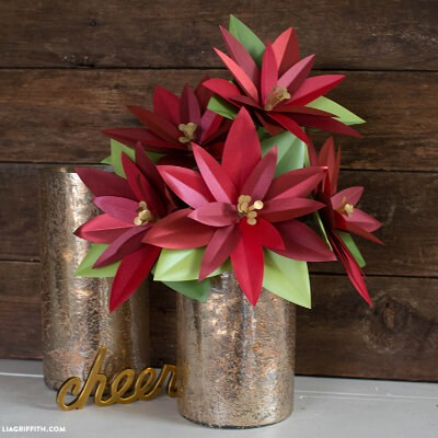 Shimmer Paper Poinsettia Plant