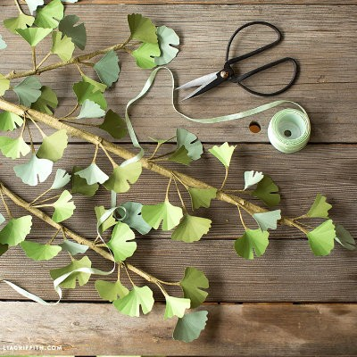 Paper Gingko Branch Project by Lia