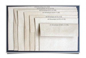 Announcement Size Envelopes – VISUAL GUIDE