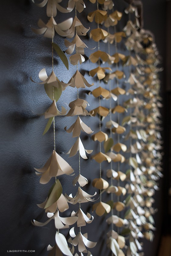 Cascading paper flower garland paperpapers blog this garland template is printed onto letter weight not card stock sage gold and poison ivory though it can be easily adapted to your needed color mightylinksfo