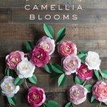Make Gorgeous Camellia Blooms from Metallic Paper