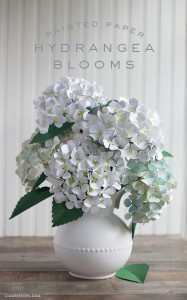 DIY Metallic Paper Hydrangeas