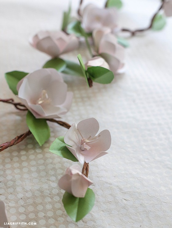 diy paper apple blossom branches - Paper Apple Branch DIY 1 - DIY Paper Apple Blossom Branches