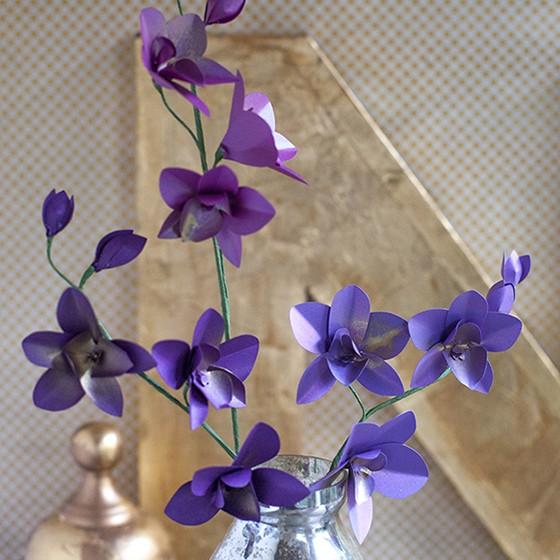 metallic paper dendrobium orchids