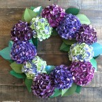 Metallic Paper Hydrangea Wreath