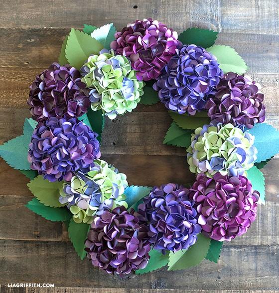 Diy paper hydrangea wreath mightylinksfo Gallery