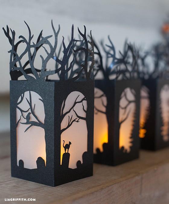 すべての折り紙 飾り付け 折り紙 : Halloween Decorations Paper Lanterns