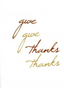 5. Give Thanks Pieces