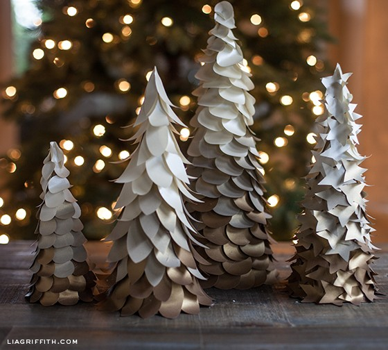 ombre holiday trees - PaperOmbreTrees1 - Ombre Holiday Trees