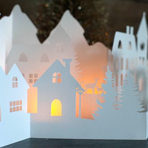 diy paper holiday village - PaperVillageWinterTN - DIY Paper Holiday Village