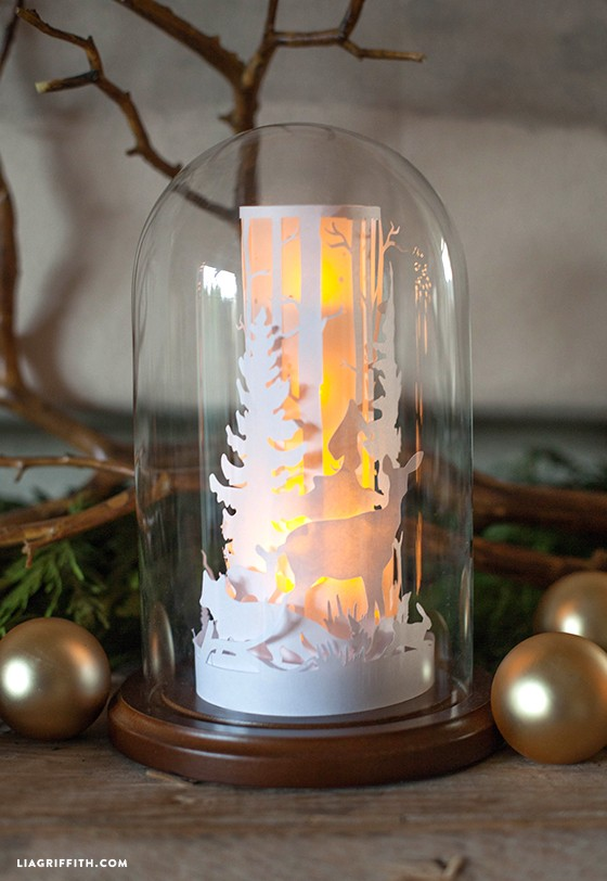 paper cut winter scene - Winter Globe DIY 1 - Paper cut Winter Scene