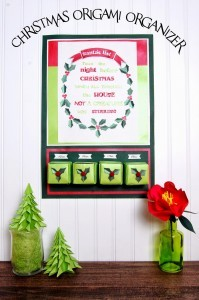 christmas origami organizer1