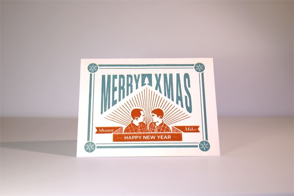 Example of previous year's Holiday Card