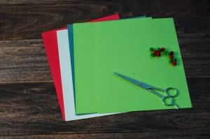 xmasstep1 christmas origami organizer - xmasstep1 300x199 - Christmas Origami Organizer