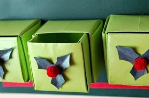 xmasstep18 christmas origami organizer - xmasstep18 300x199 - Christmas Origami Organizer