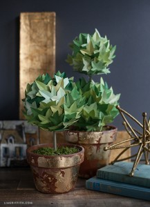 DIY Paper Topiary