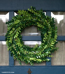 Paper Boxwood Wreath