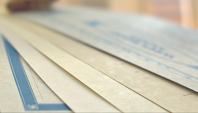 certificate parchment paper