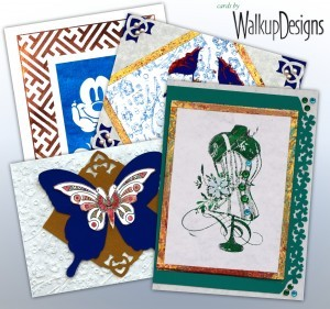 Making DIY Cards with Foils and Parchment Paper