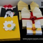 Make Your Own Gift Bags Using Shimmer Paper and more
