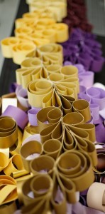 Shimmer Card Stock Paper – GOLD-ish Swirling Paper Garland