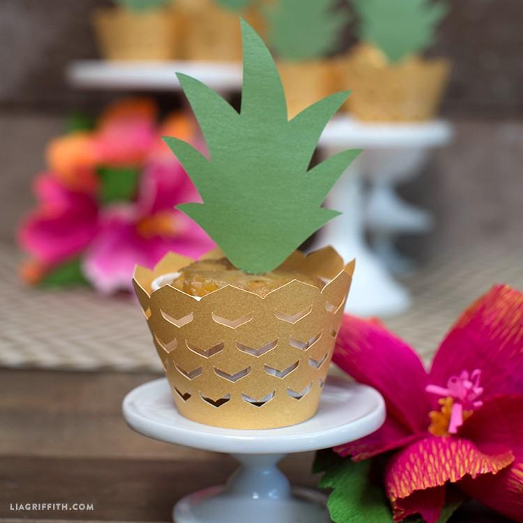 pineapple cupcake decorations - Luau Cupcake Wrappers Pineapple TN - Pineapple Cupcake Decorations