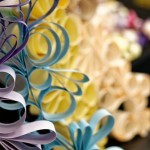 Shimmer Card Stock Paper – PURPLE-ish Swirling Paper Garland
