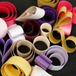 swirling paper for garland