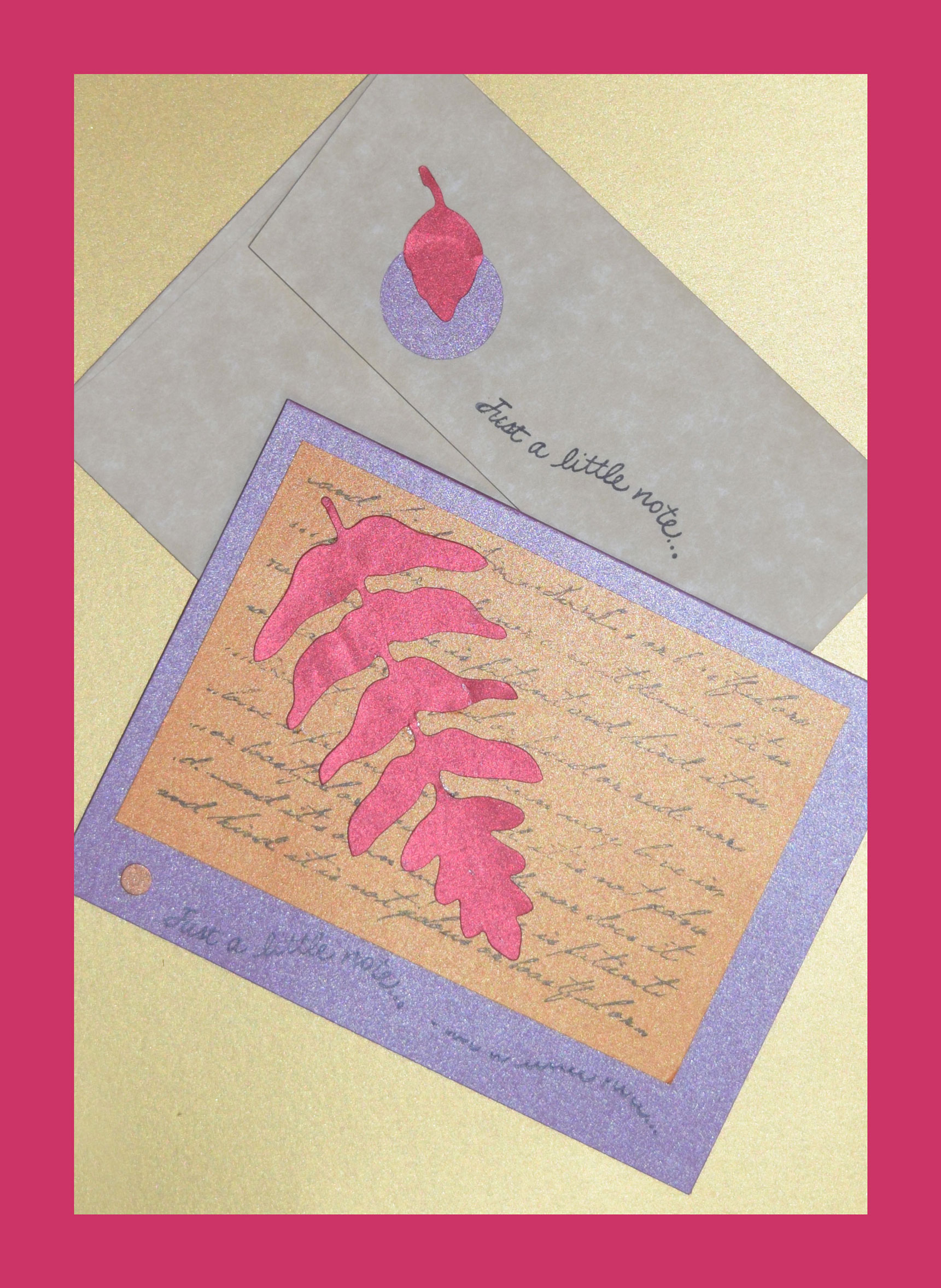 card making ideas - just a little note and invites - P Papers Just a note red leaf web - Card making ideas – Just a little note and Invites