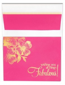 Make a fabulous card with something curiously pink