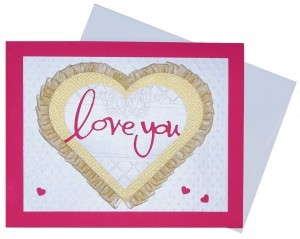 Do it yourself ideas to share your love – easy cardstock project.