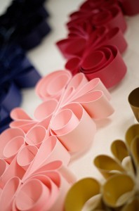 Shimmer Card Stock Paper – PINK-ish Swirling Paper Garland